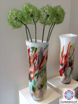 Fidrio Art vase Mixed Colors