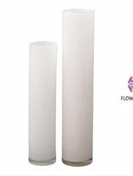 DutZ Cilinder vaas tall white