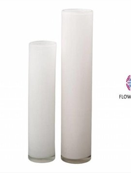 DutZ Cylinder vase tall white