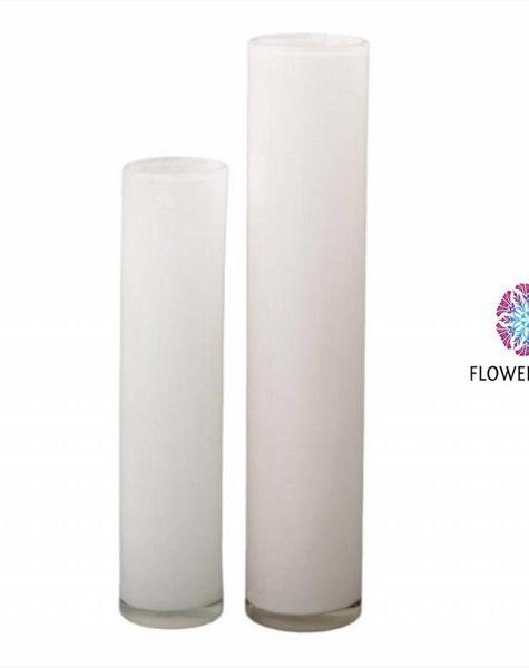 Cylinder Vase Tall White Large Vases White Flowerfeldt