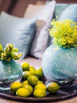 DutZ Ball blue petrol bubble vases