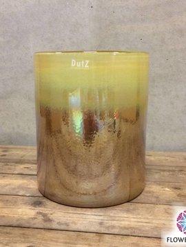 DutZ Cylinder iris gold vases