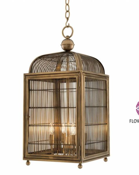 lamp in vogelkooi