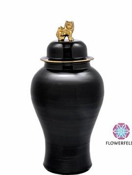 Eichholtz Black vase Golden Lion