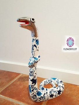 Niloc Pagen Standing Snake Delfts Blue Silver