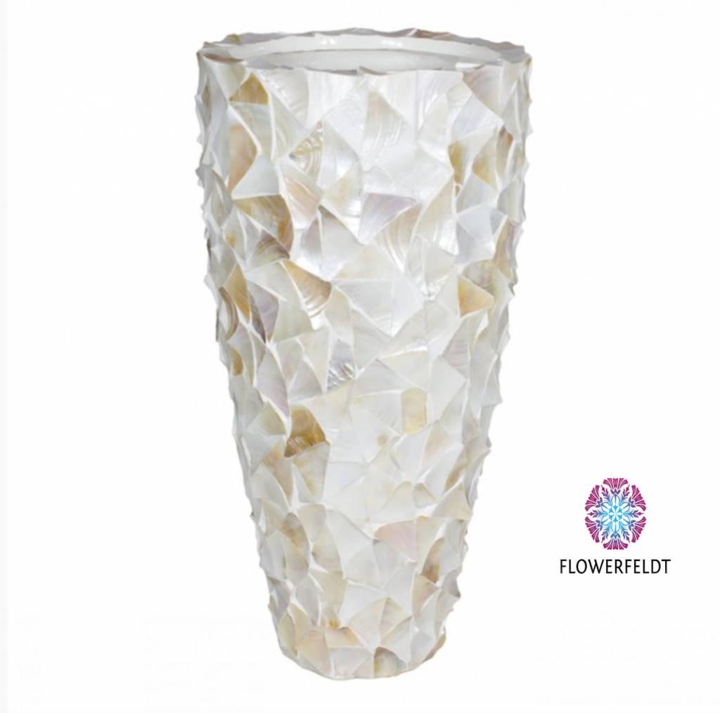 Vaak Witte pot mother of pearl - Grote potten - Flowerfeldt #SG91