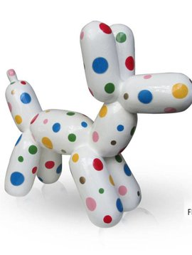 Niloc Pagen Balloon Dog White Color Dots