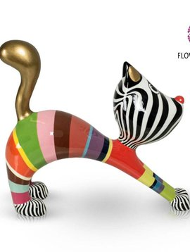 Niloc Pagen Stretching Cat Multi Color Gold