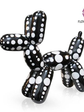 Niloc Pagen Balloon Dog Black White Dots
