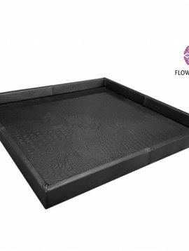 Pot en Vaas Leather tray croco black S