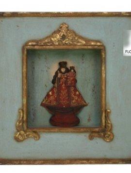 Madonna red in frame