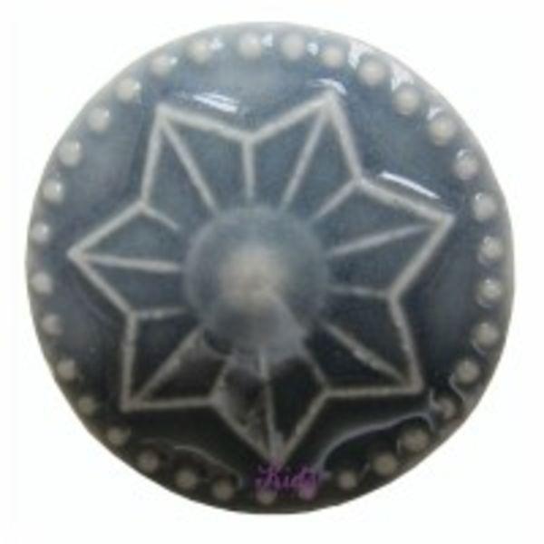 Harvey's Home Deurknop porselein ster grijs groot