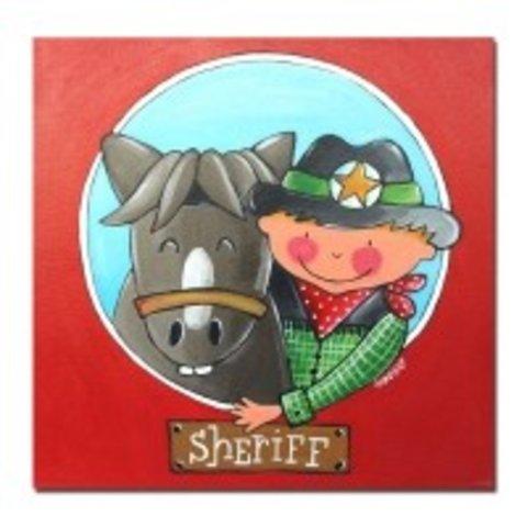 Kinderschilderij sheriff