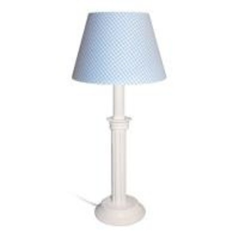 Tafellamp licht blauwe ruit