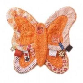 Label Label Label Label knuffeldoekje vlinder