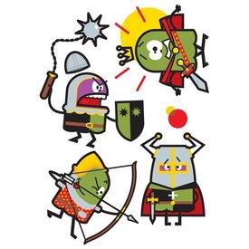 Art-Sticker Muursticker ridders II