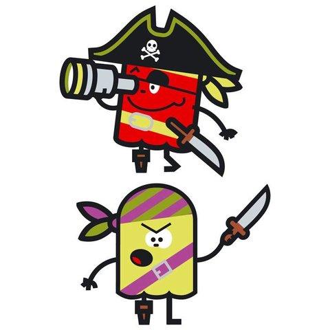 Muursticker piraten II