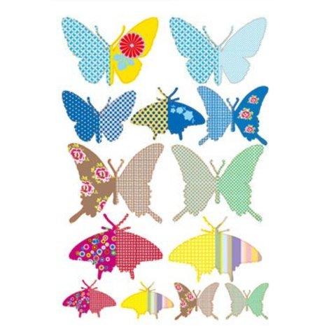 Around the wall muursticker papillons vlinders