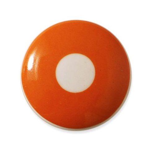 Aspegren deurknopje kinderkamer polka oranje