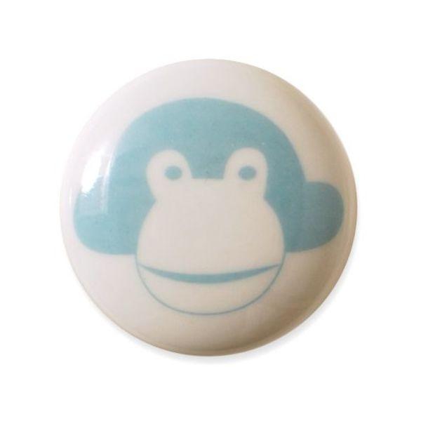 Aspegren Denmark Aspegren deurknopje kinderkamer aap lichtblauw