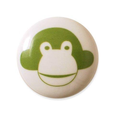Aspegren deurknopje kinderkamer aap groen