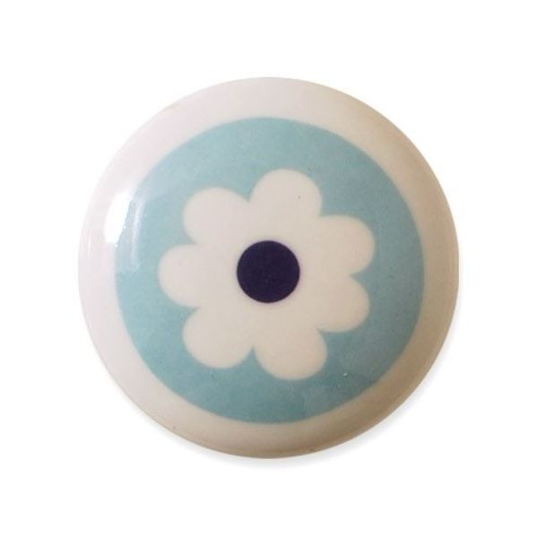 Aspegren Denmark Aspegren deurknopje kinderkamer bloem blauw