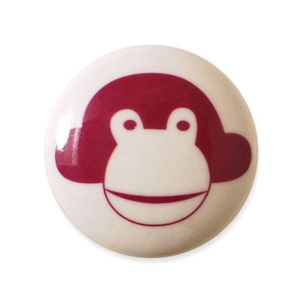 Aspegren Denmark Aspegren deurknopje kinderkamer aap donkerroze