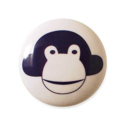 Aspegren deurknopje kinderkamer aap donkerpaars
