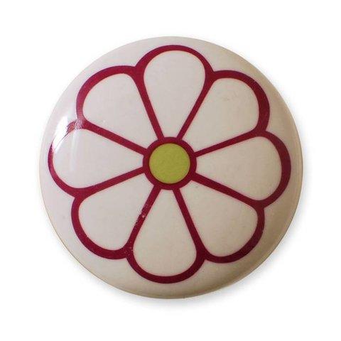 Aspegren deurknopje bloem donkerroze