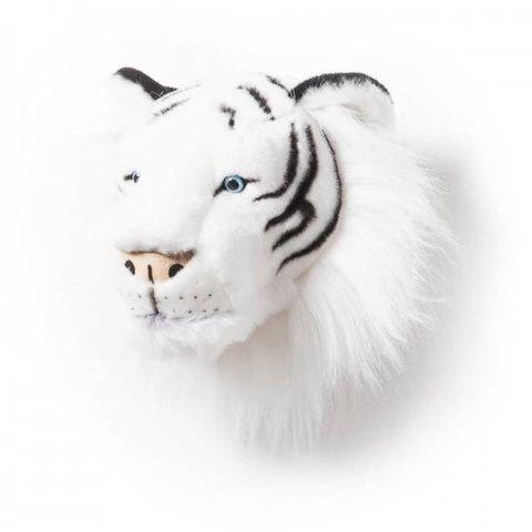 Wild & Soft dierenkop tijger wit