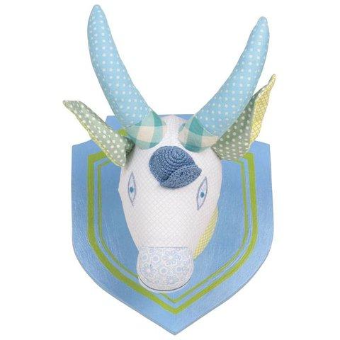 Rice dierenkop geit deluxe blauw