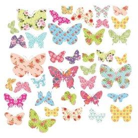Decowall Decowall muursticker kinderkamer kleurrijke vlinders