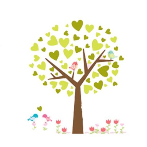 Decowall muursticker kinderkamer boom met vogels