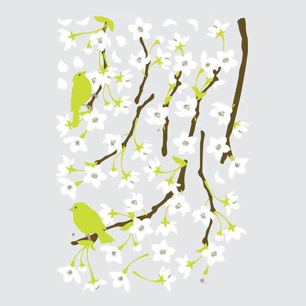 Decowall Decowall muursticker witte bloesem