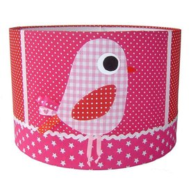 Designed4Kids Designed4Kids kinderlamp vogel roze
