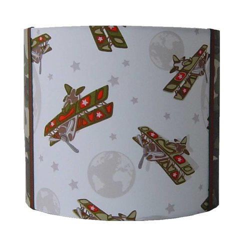 Designed4kids wandlamp vliegtuig army