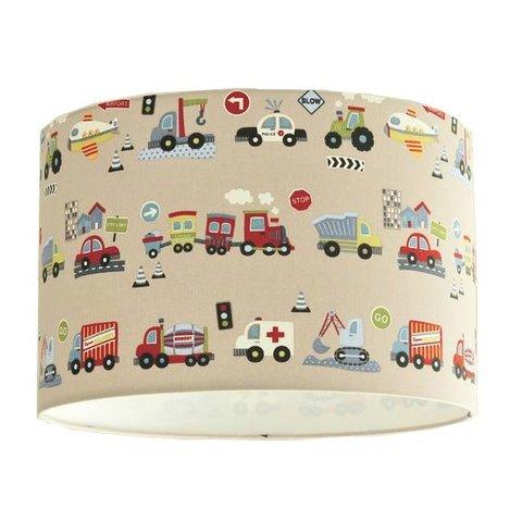 Designed4Kids kinderlamp voertuigen beige