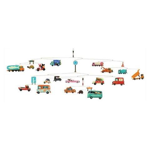 Djeco mobiel autos traffic