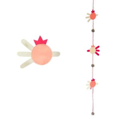 Esthex bellenkoord vis roze