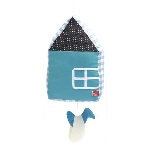 Esthex muziekdoos huisje blauw