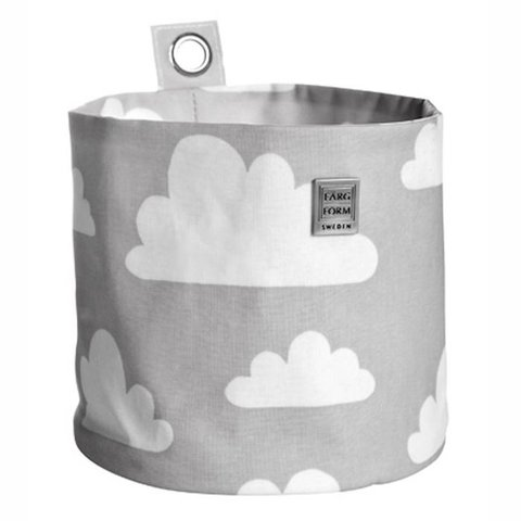 Farg en Form ophangmandje wolken grijs groot