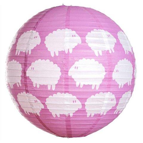 Farg & Form kinderlamp schaapjes roze