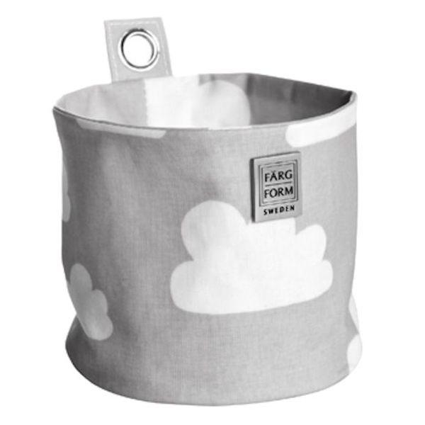 Farg & Form Zweden Farg en Form ophangmandje wolken grijs klein