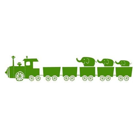 Ferm Living muursticker trein groen