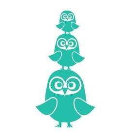 Ferm Living Kids Ferm Living muursticker uilen turquoise