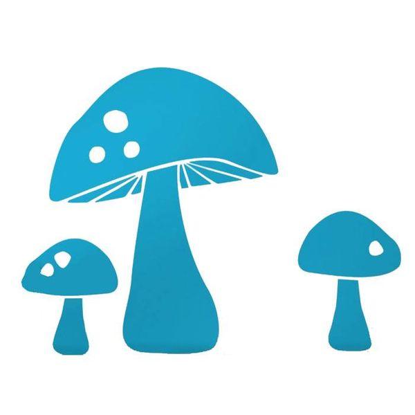 Ferm Living Kids Ferm Living muursticker paddenstoel lichtblauw