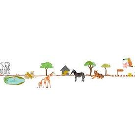 Mimi'lou Mimilou muursticker dierentuin ballade au zoo