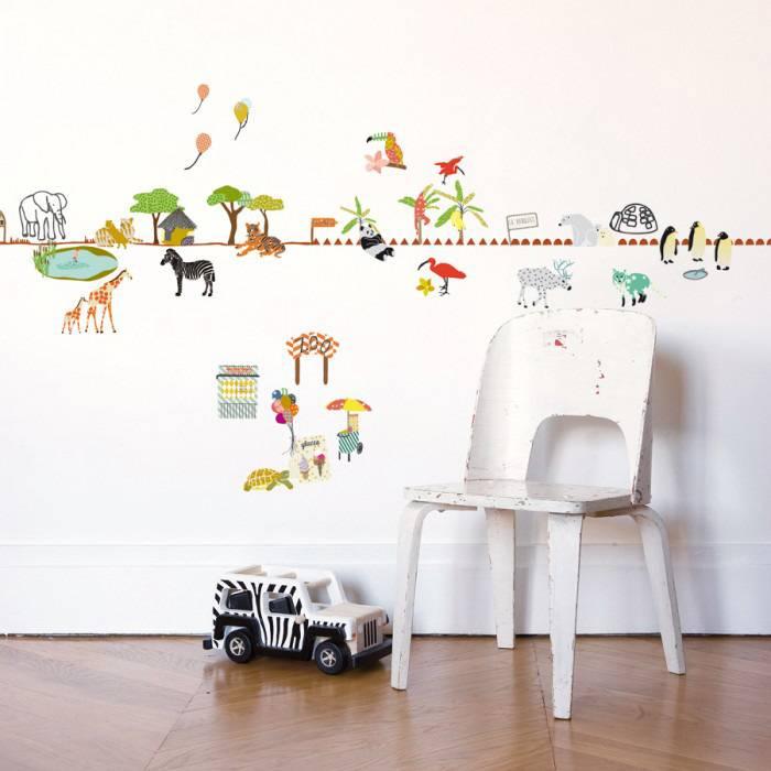 mimilou muursticker ballade au zoo | kidzsupplies, Deco ideeën