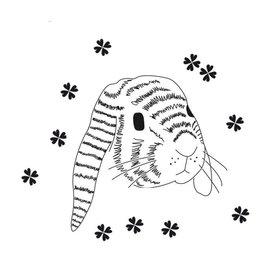 Mimi'lou Mimilou muursticker konijnenhoofd