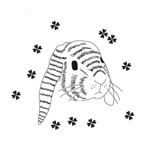 Mimilou muursticker konijnenhoofd